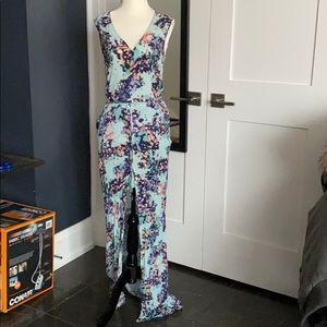 BCBG Max Azria Paint Splatter Maxi Dress